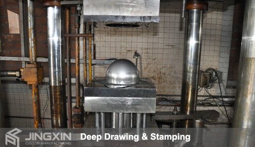 Metal stamping deep drawing