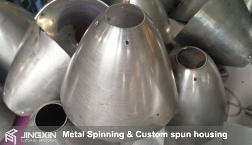 Custom aluminum spun housing