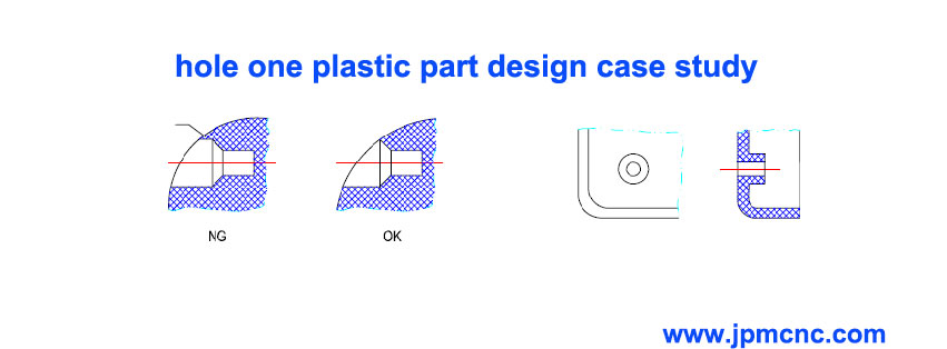Design guideline for the holes on plastic molded part