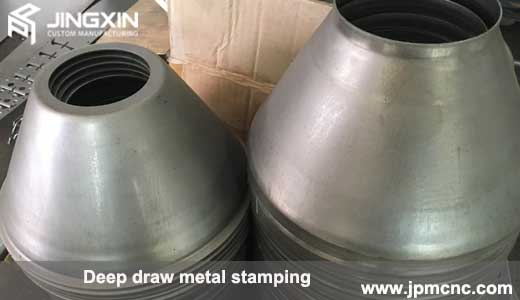 Deep drawn stainless steel parts