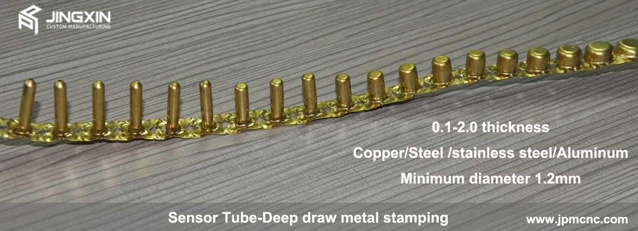 deep drawn sensor tubes