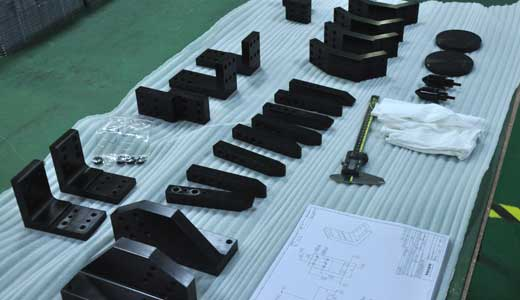 Black oxide cnc machined Low carton steel jigs