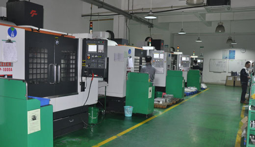 CNC machine shop in China