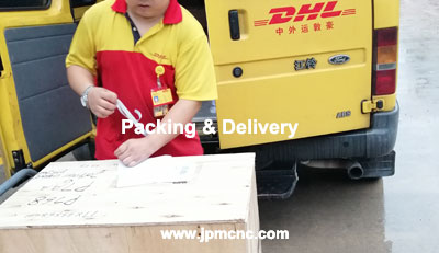 CNC machined parts shipping from China